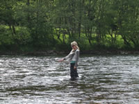 Learning to fish in the River Lochy