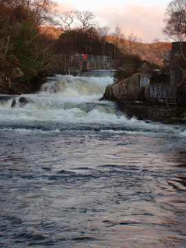 Morar hydro dam in high water