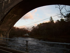 River Morar from the railway bridge